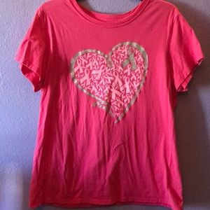 Tops - Pink breast cancer shirt